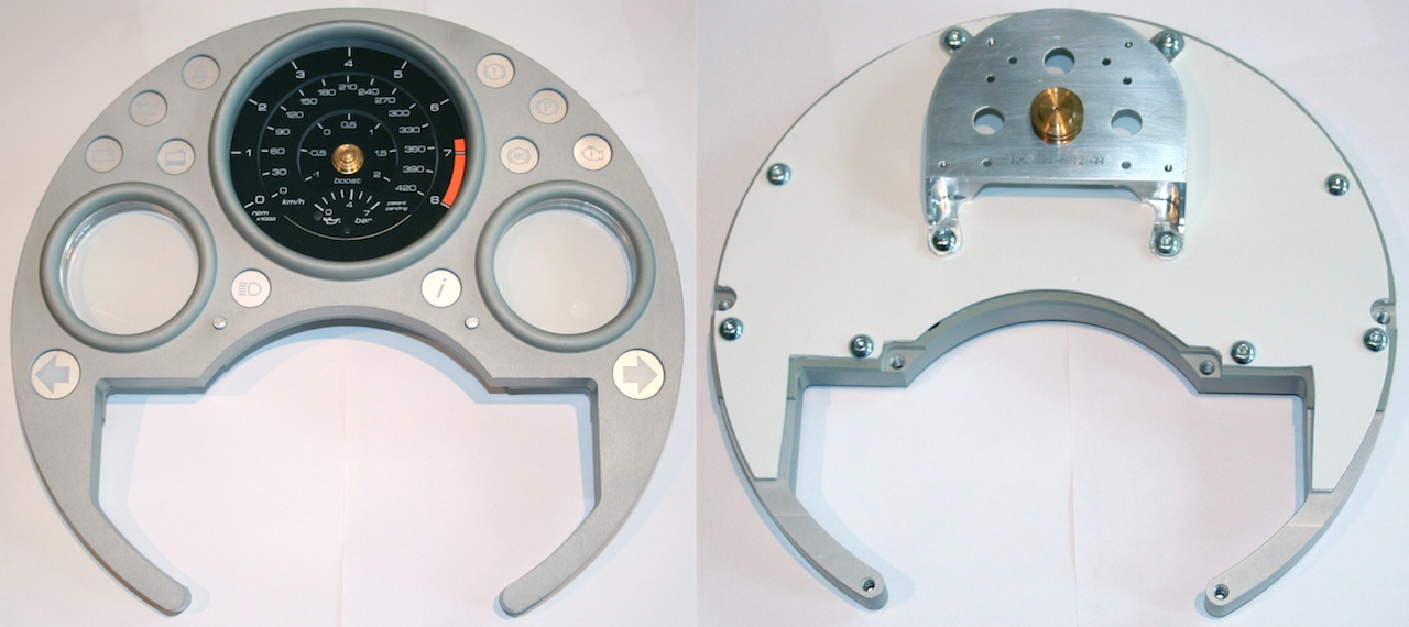 Early packaging prototype of Chronograph Instrument Cluster