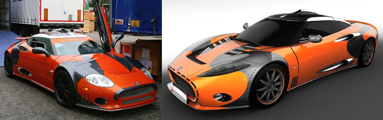 Spyker C8 LM85 and the second custom design proposal