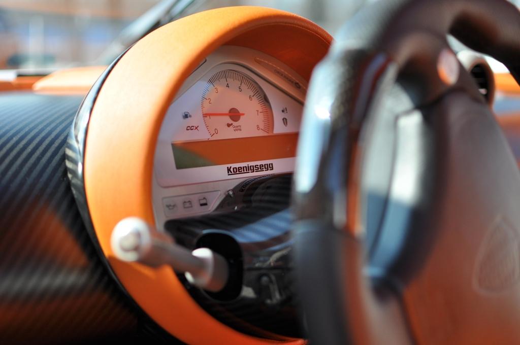 Stack panel in Koenigsegg CCX interior