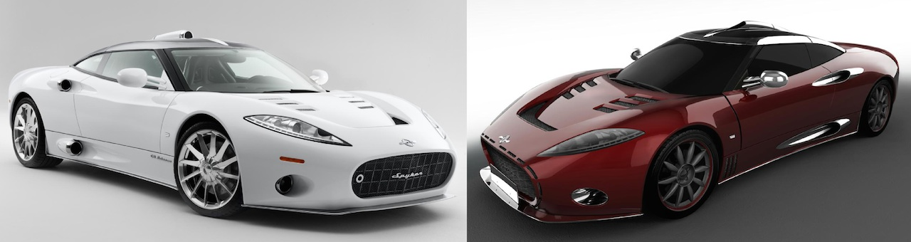 'Standard' Spyker C8 Aileron and custom design proposal